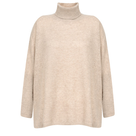 Absolut Cashmere Abella Cashmere Roll Neck Jumper - Beige