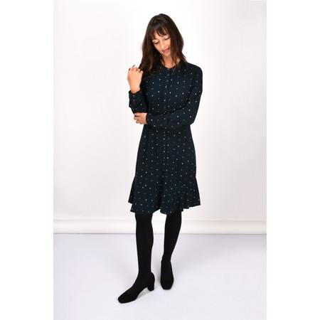 Sandwich Clothing Dot Print Peplum Dress - Blue