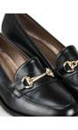 Gemini Label Shoes Nero Black Rizardo Heeled Loafer