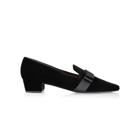 Gemini Label Shoes Rolero Velvet Pump - Black