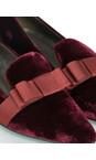 Gemini Label Shoes Bordeaux Rolero Velvet Pump