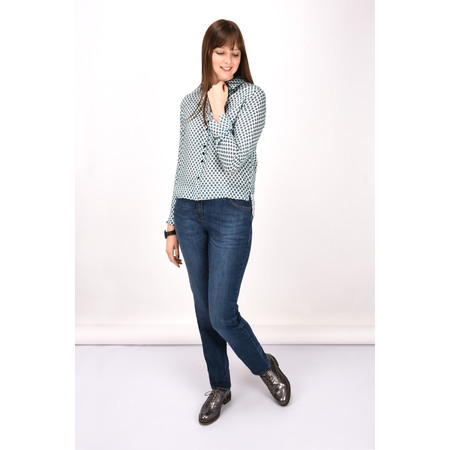 Gerry Weber Casual Spotty Shirt - Blue