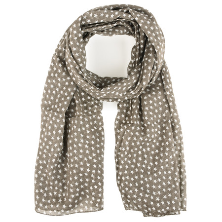 BeckSondergaard Star Cotton Scarf - Grey