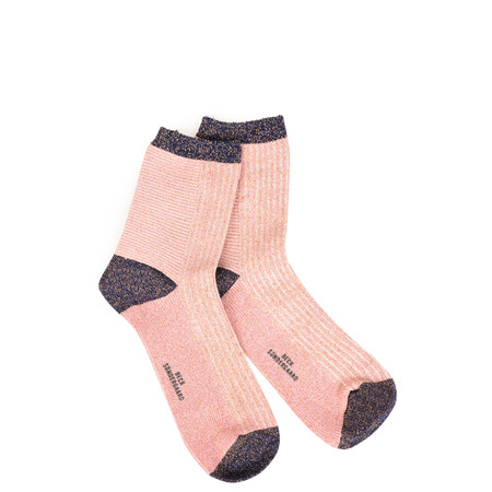 BeckSondergaard Dina Striped Socks - Pink