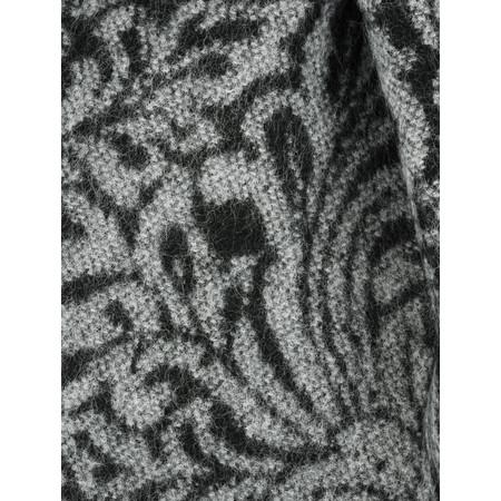 V.Fraas Leaf Print Wrap Scarf - Black
