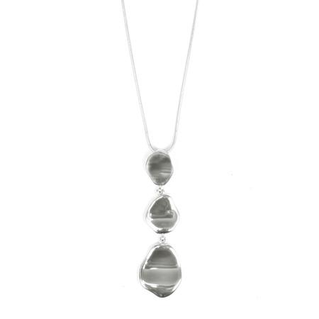 Eliza Gracious Charity Triple Circle Necklace - Metallic