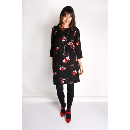 Sandwich Clothing Flower Print Dress - Black