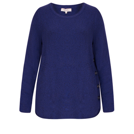 Sandwich Clothing Soft button detail jumper - Blue
