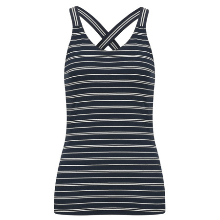 Sandwich Clothing Striped Jersey Vest Top - Blue