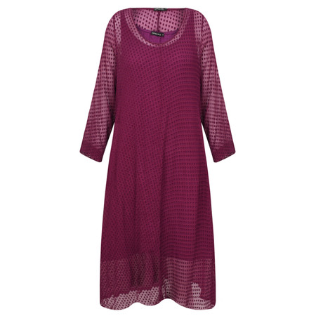 Grizas Egle Devore Spot Dress - Pink