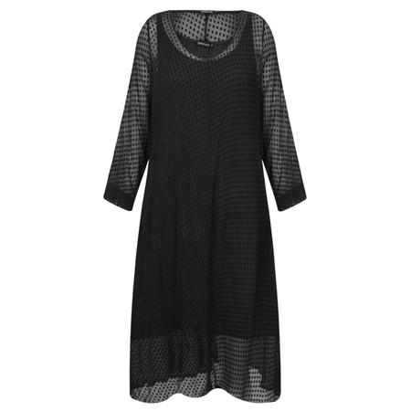 Grizas Egle Devore Spot Dress - Black