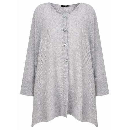 Grizas Urte Plain Knit Cardigan - Grey