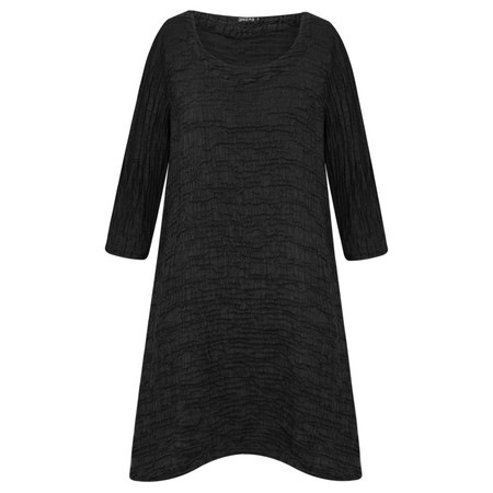 Grizas Laura Solid Crush Tunic - Black