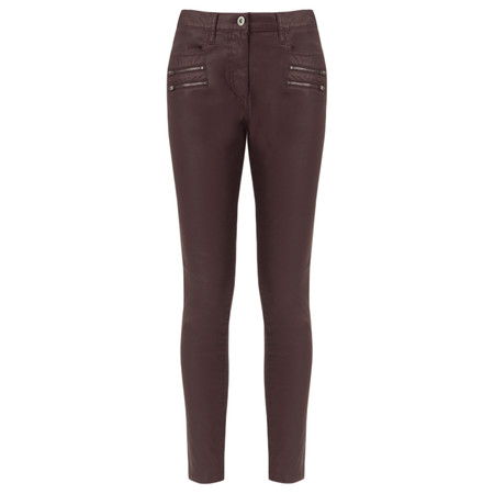 Great Plains Oiled Denim Skinny Jeans - Red