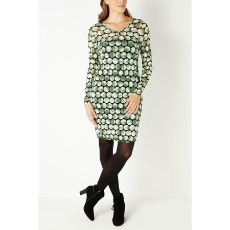 Sandwich Clothing Fine Net Jersey Dress - Green