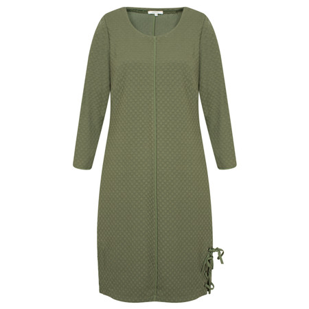 Sandwich Clothing Sweater Dress with Tie Detail - Green