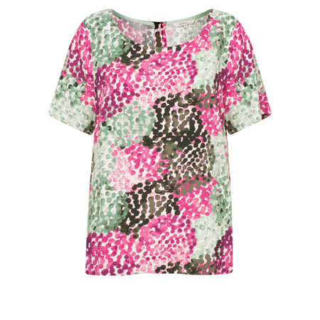 Sandwich Clothing Monet Dots Top - Green