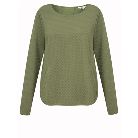 Sandwich Clothing Ribbed Sweater with Cord - Green