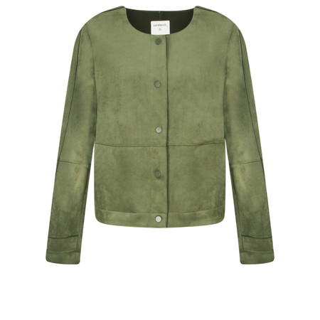 Sandwich Clothing Faux Suede Jacket - Green