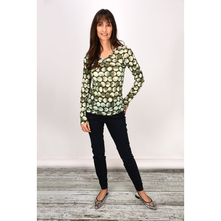 Sandwich Clothing  Long Sleeve Crinkle Jersey Top - Green
