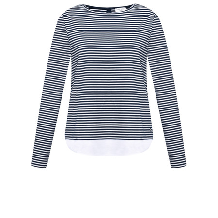 Gerry Weber Striped Hem Trim Top - Blue