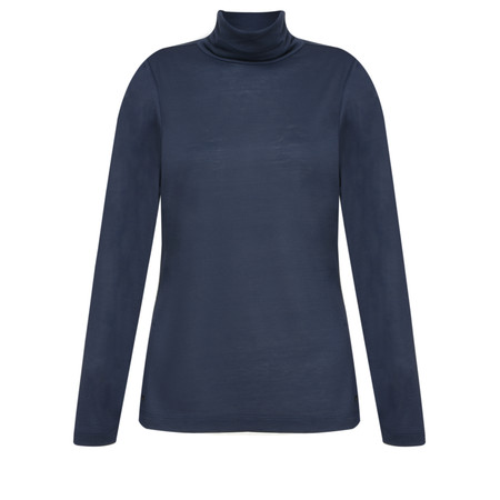 Sandwich Clothing Long Sleeve Roll Neck Top - Blue