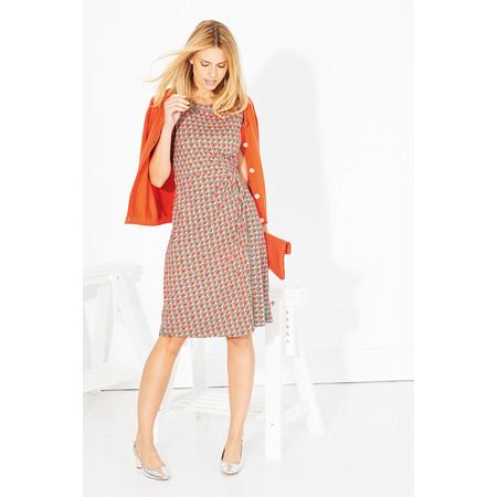 Adini Castillo Print Palace Dress - Orange