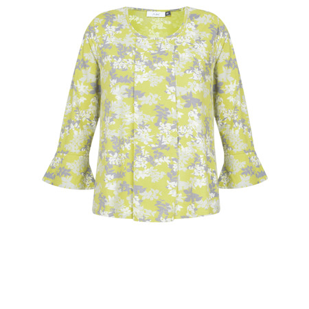 Adini Laurel Print Joy Blouse - Yellow