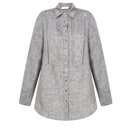Adini Ciara Linen Natalie Shirt - Blue