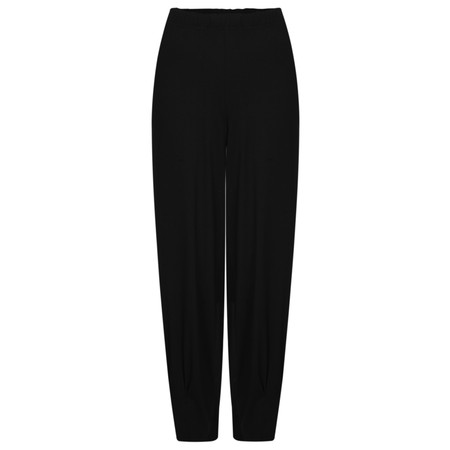 Q'neel Slouch Jersey Trousers - Black