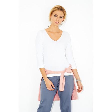 Adini Cotton Rib Imogen Top - White