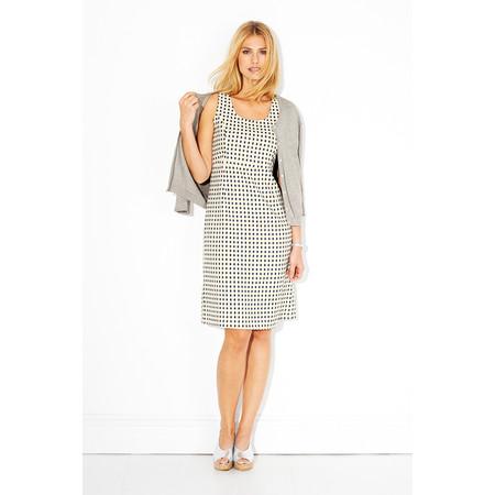 Adini Spot Jacquard City Dress - White
