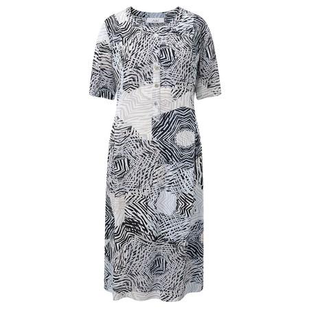 Adini Zambia Print Palm Dress - Metallic
