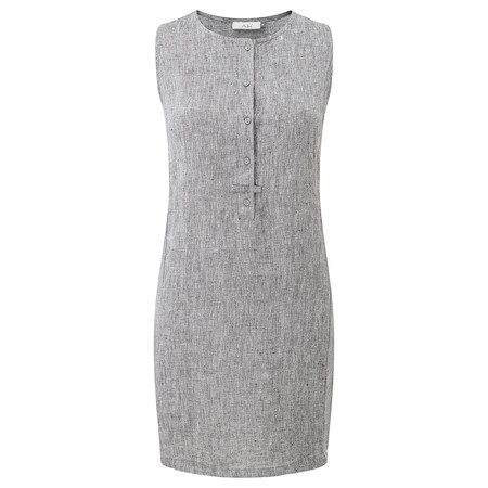Adini Ciara Linen Tammy Dress - Blue