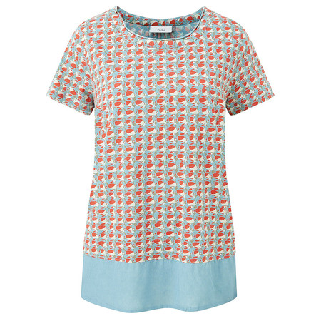 Adini Castillo Print Fort Top - Orange