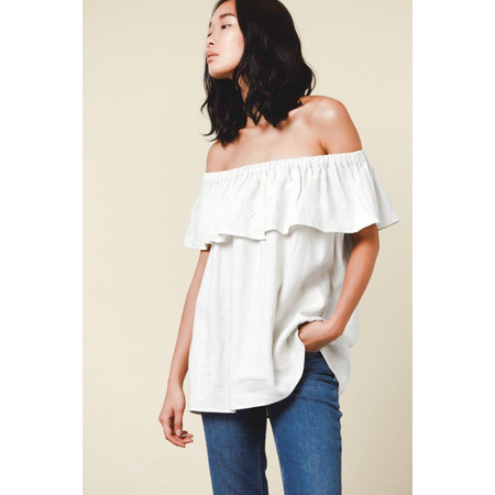Great Plains Lagos Linen Top - White