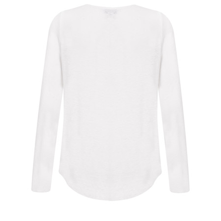 Great Plains Lucy Linen Mix Jersey Top - White