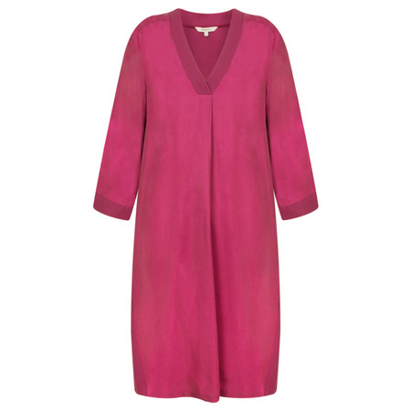 Sandwich Clothing A-Line Twill Dress with pockets - Pink