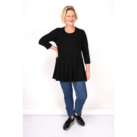 Q'neel Jersey Tunic Top - Black
