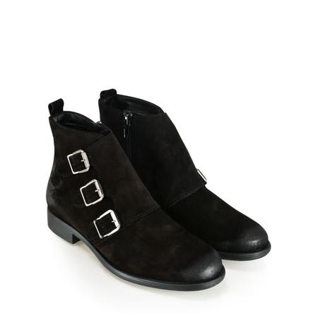 Tamaris  Edie Buckle Ankle Boot - Black
