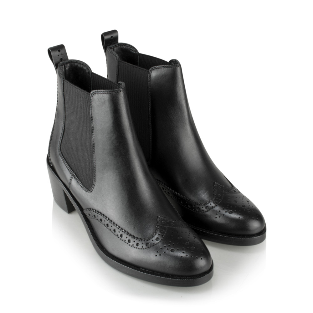 Vanilla Moon Shoes Francy Leather Chelsea Boot Black