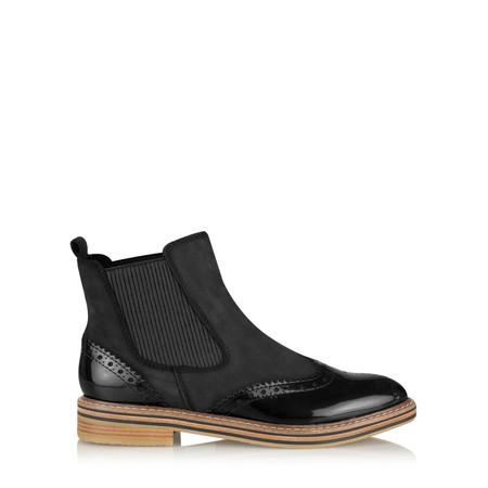 Marco Tozzi Anna Brogue Chelsea Boot - Black