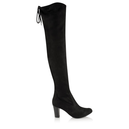 Caprice Footwear Sabina OverKnee Faux Suede Stretch Boot - Black