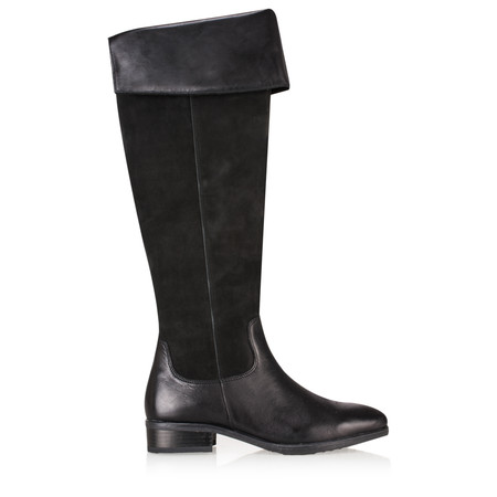 Caprice Footwear Ola Overknee Leather Boot - Black