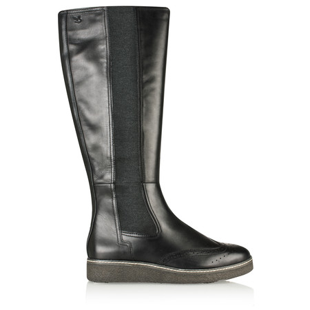 Caprice Footwear Mila Leather Boot - Black