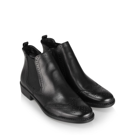 Tamaris  Erin Brogue Chelsea Boot - Black