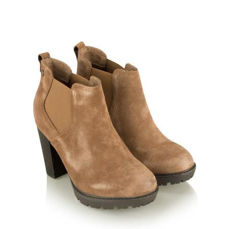 Carmela Suede Chelsea Ankle Boot - Beige