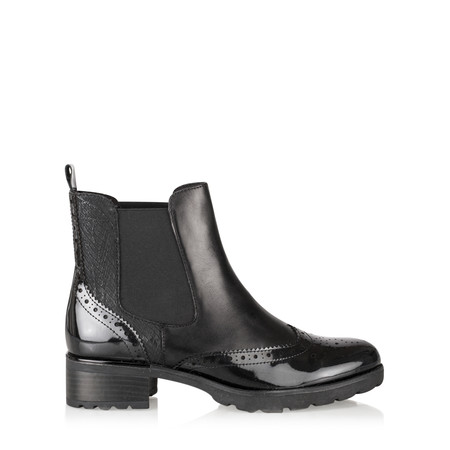 Caprice Footwear Nina Brogue Chelsea Boot - Black