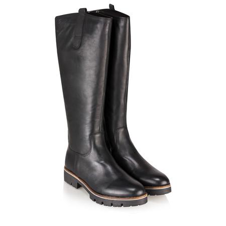 Caprice Footwear Leni Long Leather Boot - Black