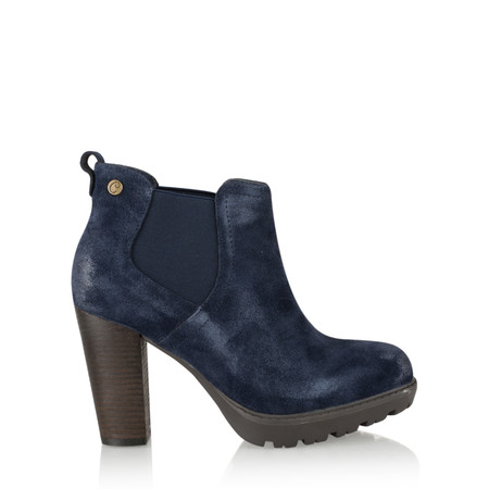Carmela Suede Chelsea Ankle Boot - Blue